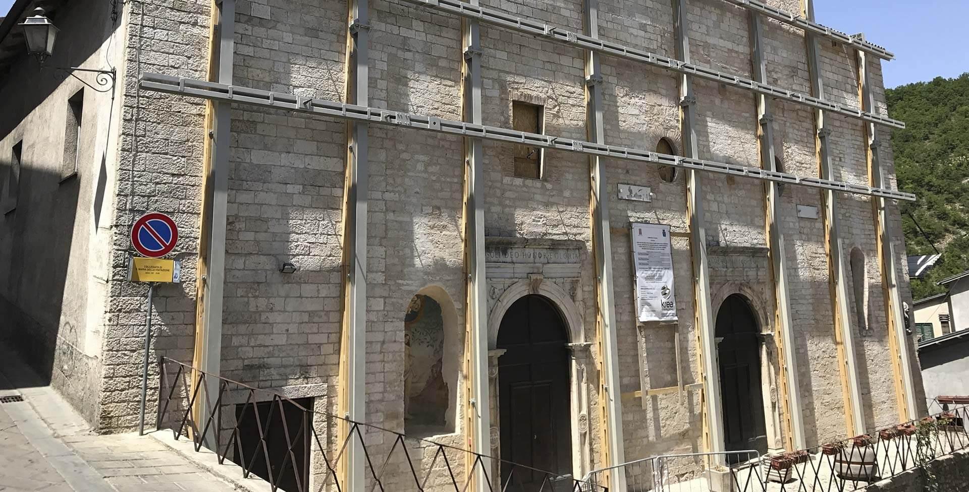 Securitization works in the Santa Maria della Visitazione church